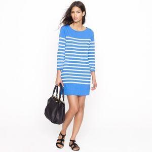 J. Crew Maritime Skinny Stripe Blue Dress xxs